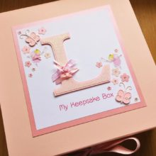 Keepsake box childrens any initial letter & fairies