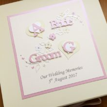 Keepsake box wedding initial hearts and leaves