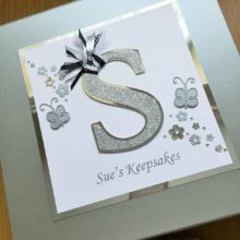 Keepsake box womens initial letter & butterflies