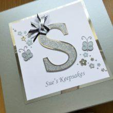 Keepsake box womens initial letter & butterflies