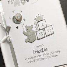 New baby ABC blocks and washing line