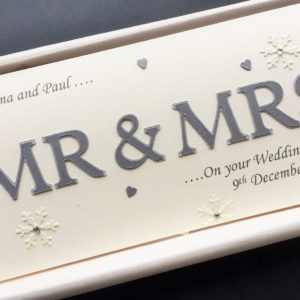 Wedding Mr & Mrs DL with snowflakes