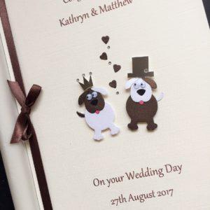 Wedding animals dogs brown mix