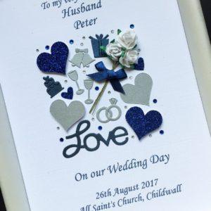 Wedding collage navy