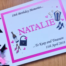 Album womens decorated name pink