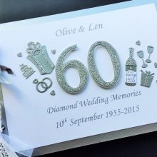 Guest book anniversary decorated number diamond A5 (2)