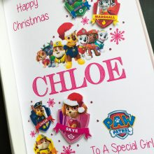Christmas name and Paw Patrol theme
