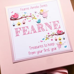 Keepsake box childrens name & fairies