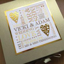 Keepsake box wedding words