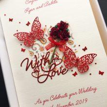 Wedding flowers & butterflies