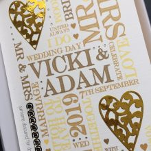 Wedding collage words